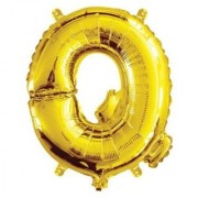 De-Ultimate 16 Inch Alphabet (Q) Soild (Golden) Color 3D Foil Balloons For Birthday And Anniversary Parties Decoration