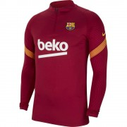 Nike FC Barcelona Drill Top 2020-2021 Noble Red - Rood - Size: Small