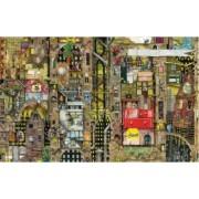 Puzzle Schmidt - 1000 de piese - Colin Thompson Fantastic townscape