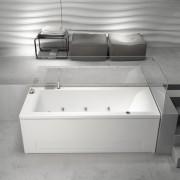 Vasca da bagno idromassaggio rettangolare Mambo Pool 180x80 cm destra con pannelli bianco