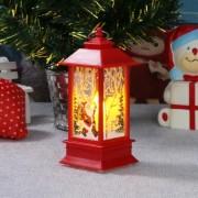Karácsonyi Elemes LED felakasztható lámpás télapó meleg fehér 12 cm