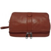Chimera Leather 3645 Travel Toiletry Kit(Tan)