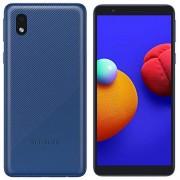 Samsung Galaxy A01 Core (16 GB) 5.3 pulgadas, batería de 3000 mAh, Android 10, Dual SIM GSM desbloqueado Global 4G LTE (T-Mobile, AT&T, Metro, Straight Talk) Modelo internacional A013M/DS (64 GB SD Bundle, azul)
