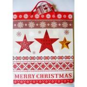 Csillagok, karácsonyi ajándéktáska. L méret