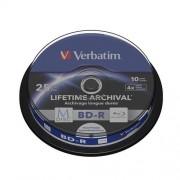 Verbatim M-DISC BD-R 4X 25GB Inkjet printable 10-pack, spindle