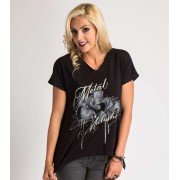 utcai póló női - TROPICS - METAL MULISHA - M44703403.01_BLK