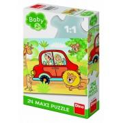 PUZZLE DE PODEA - SAFARI (24 PIESE) - DINO TOYS (350199)