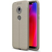 Mobigear Litchi TPU Hoesje Grijs Motorola Moto G7 Play