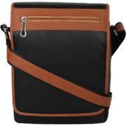 PY Fashion Pu Black Messenger Bag