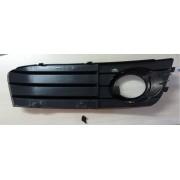 Grila bara fata Audi A4 B8 2007-2011, Stanga, grila proiector ceata cu element cromat - CLEMA RUPTA Kft Auto