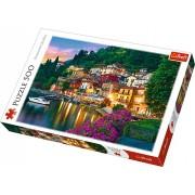 Puzzle clasic - Lacul Como Italia 500 piese