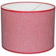 Taftan Hanglamp Kleine Ruit Rood-diameter 35 cm