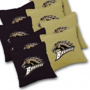 WESTERN MICHIGAN BRONCOS Cornhole Bags SET of 8 Officially Licensed ACA REGULATION Baggo Bean Bags ~ Made in the USA