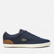 Lacoste Men's Lerond 318 1 Textile Trainers - Navy/Tan - UK 8 - Blue