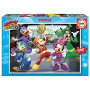 Puzzle de copii Mickey and the roadster racers Educa 100 de piese EDU17240