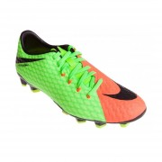 Tenis Fútbol Hombre Nike HypervenomX Phelon III FG -Verde Con Naranja