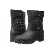 Polo Ralph Lauren Biker Boot (Big Kid) Black Leather