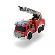 Dickie Toys Mini Action Fire Truck Vehicle Toy, Red