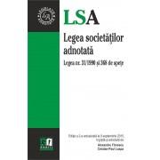 Legea societatilor adnotata. Legea nr. 31/1990 si 368 de spete. Editia a 2-a, actualizata la 9 septembrie 2015