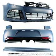 Kit estetico completo TUNING VW GOLF VI 2008-2012, look R20, paraurti anteriore posteriore e minigonne, completo