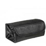 Diruno 4 in 1 Roll N Go Toiletry Bag for Cosmetic Organizer Travel Toiletry Kit(Black)
