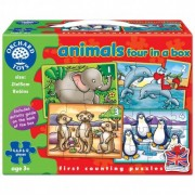 Set 4 Puzzle Animale ANIMALS FOUR IN A BOX