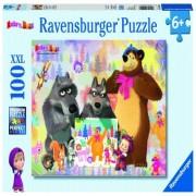 Puzzle Masha si ursul, 100 piese Ravensburger