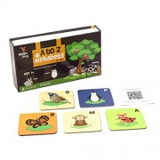 Augment Works Magic Joey Augmented Reality 26 Flash Cards A-Z Alphabets With Animals, Birds And Insects In 3D