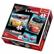 Trefl Puzzle 2u1 Memos Cars (12-907063)