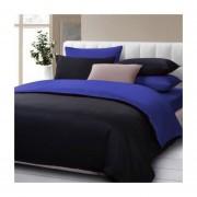 Cubre Plumon Bicolor Negro / Azul
