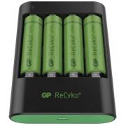 Caricabatterie Intelligente 4 AA/AAA con 4 batterie AA...