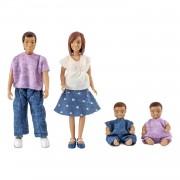 Lundby dockfamilj med 2 bebisar