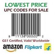 500 UPC/ EAN Certified Bar-Code For Listing On ECommerce