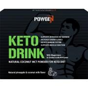 Sensilab Powgen Keto Drink Kokos MCT Pulver mit 75% des MCT Anteils Höchster MCT Pulver Anteil auf dem Markt Mit Mg und Multivitaminen 10 Beutel
