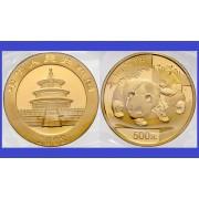 China 2008 - 500 yuan, moneda cu panda, aurit