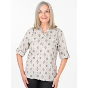 Seniors Choice Aztec Peasant Shirt - Almond 18