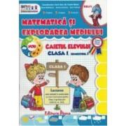 Matematica si explorarea mediului - Clasa a 1-a. Sem. 1 - Caiet - Vasile Molan