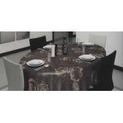 Tafellaken - Tafelkleed - Tafelzeil - Geweven - Opgerold op dunne Rol - Geen Plooien - Duurzaam - Riana Bruin - 140 cm x 200 cm
