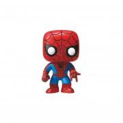 Spiderman Funko Pop Spider Man Clasico Hombre Araña Marvel Bobble Head-Multicolor