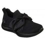 Skechers black slip on Bobs Squad 2 Bow Beauty