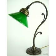 Lampada da tavolo vetro verde m33