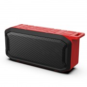 X2 Portable IPX7 Waterproof Wireless Bluetooth Speaker Support TF Card Play - Red