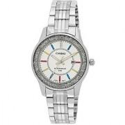 Casio Analog Silver Round Watch - LTP-1358D-7AVDF (A806)