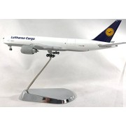 GeminiJets Lufthansa Cargo Boeing 777-200F Diecast Airplane Model D-ALFA With Chrome Stand 1:400 Scale Part# GJDLH1364