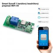 Smart Sonoff Modul 1 kanálový bezdrôtový prepínač WiFi 5V (eWelink)