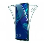 Husa Full TPU 360 fata spate pentru Huawei P Smart (2019) Albastru Transparent