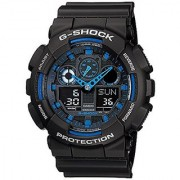 Casio G-Shock Analog-Digital Blue Dial Mens Watch - GA-100-1A2DR (G271)