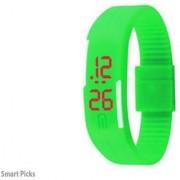 Laurex Led Green Digital Magnet lock Watch for Boy's and Girls L-010
