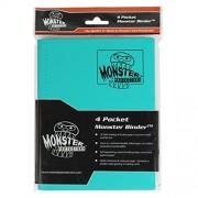 Monster Binder - 4 Pocket Trading Card Album - Matte Teal (Anti-theft Pockets Hold 160+ Yugioh, Pokemon, Magic the Gathering Cards)