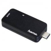 Четец за карти HAMA 135751, USB 3.1 Type-C,SD/Micro, Черен, HAMA-135751